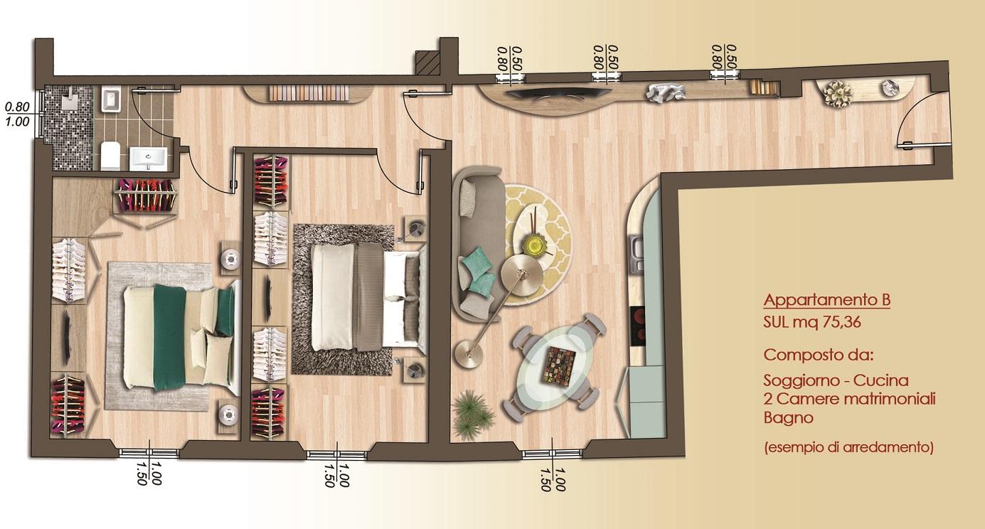 Appartamento di Tre vani ristrutturato Firenze