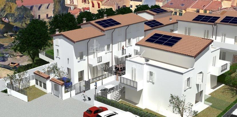 Nuovo terratetto con giardino e posto auto