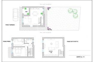 Nuovo terratetto n.11 con posto auto, giardino, classe energetica A+